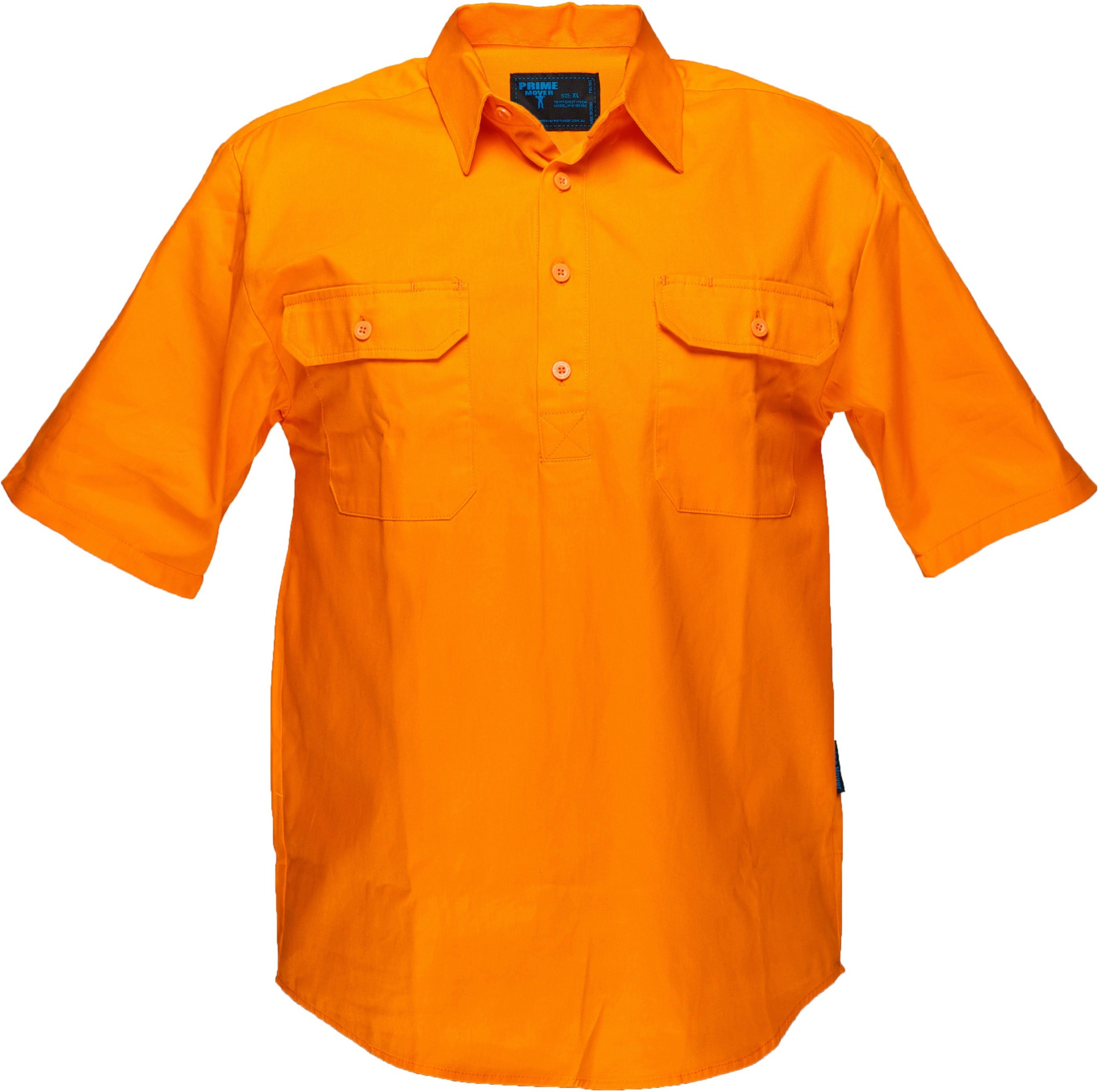 Hi Vis Cotton Drill Shirt 185gsm Closed Front