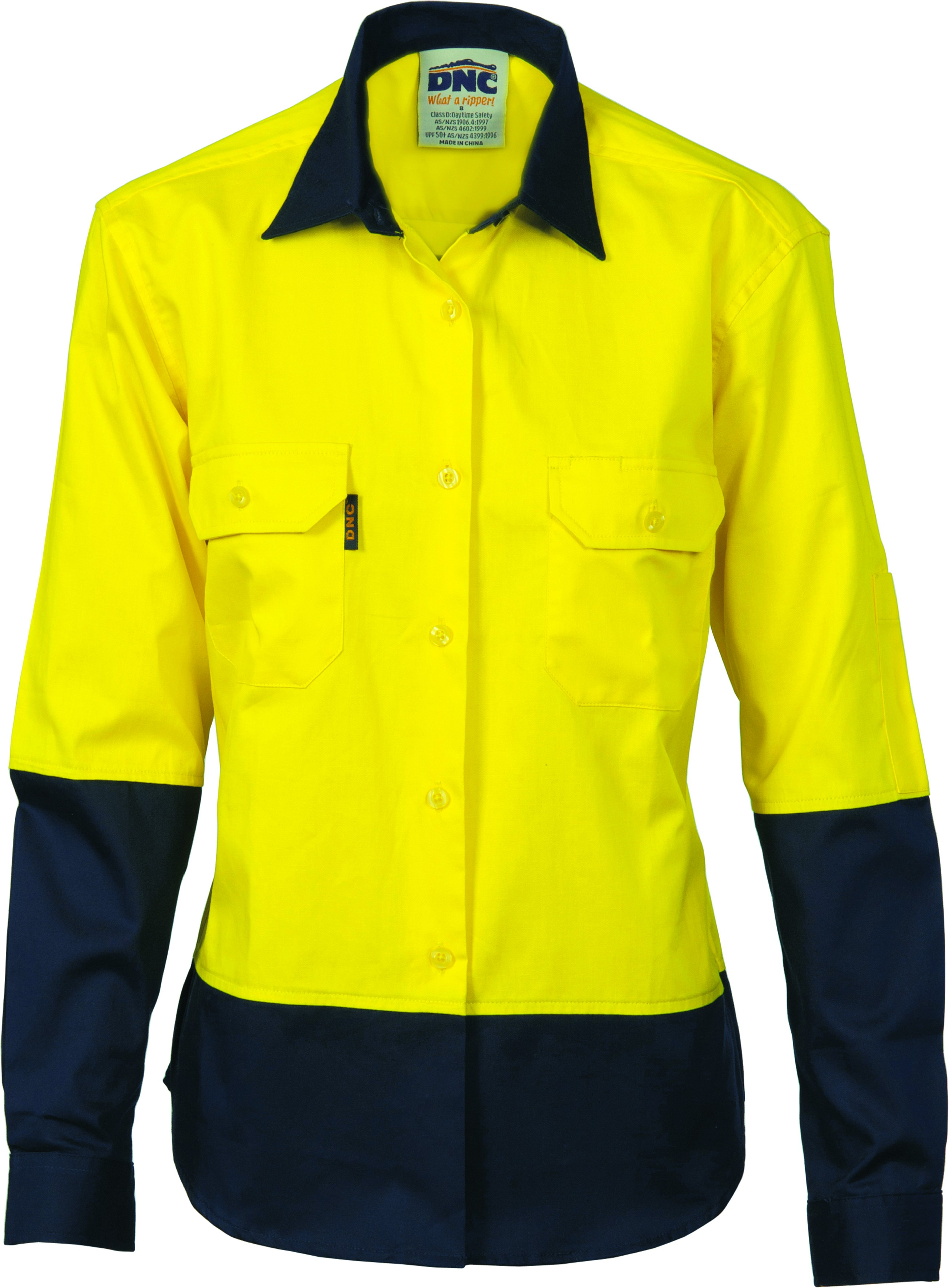 Ladies Hi Vis Cool-Breeze Cotton Shirt - Long Sleeve