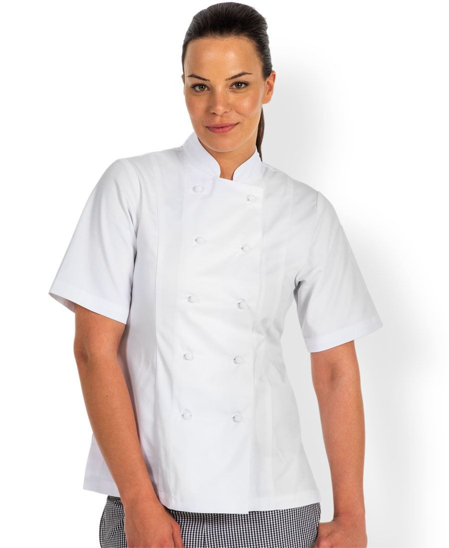 Ladies Short Sleeve Chef's Jacket