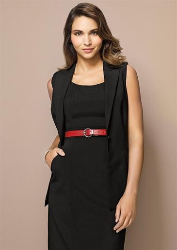 Comfort Wool Longline Sleeveless Jacket