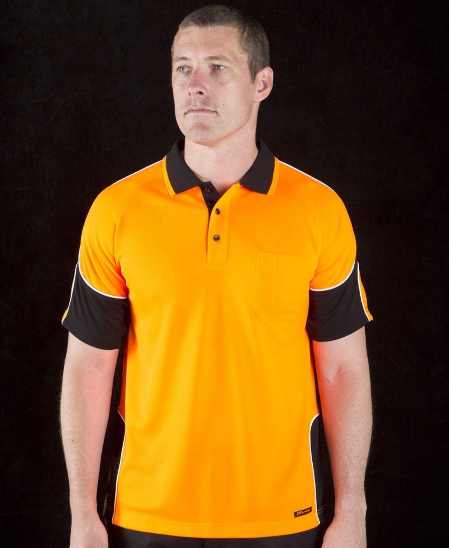Hi Vis Short Sleeve Arm Panel Polo