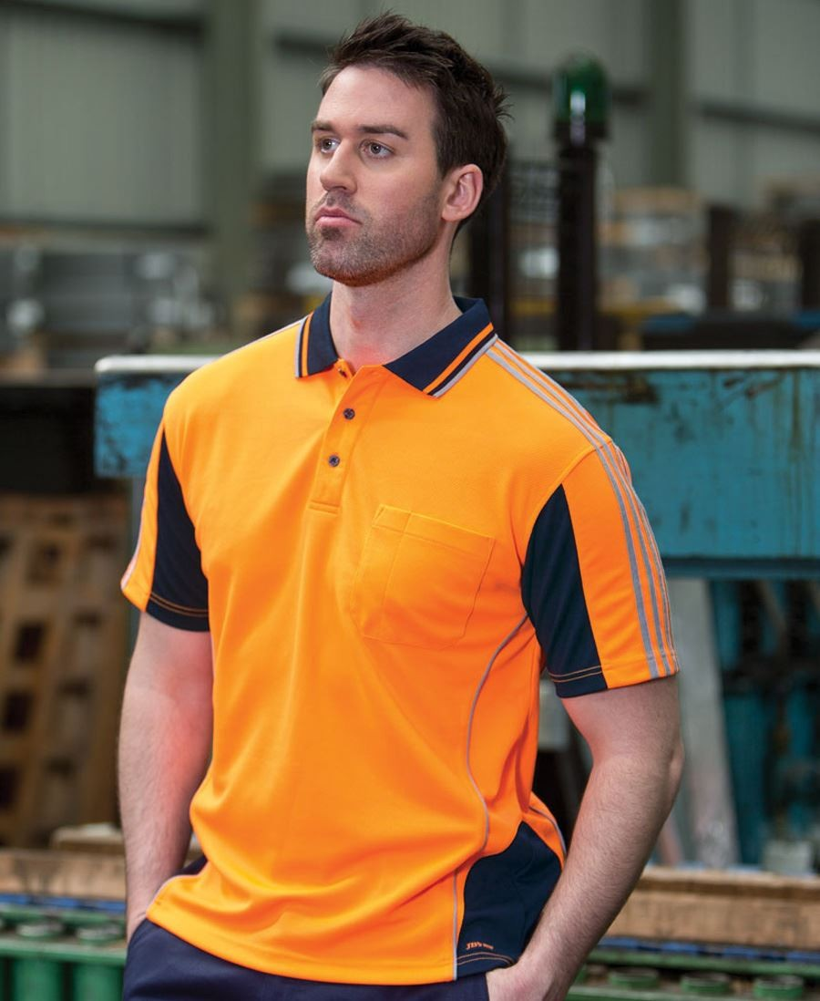 Hi Vis Short Sleeve Arm Tape Polo