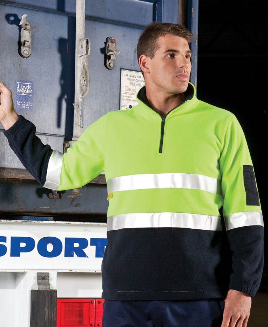 Hi Vis (D+N) 1/2 Zip Polar Fleece