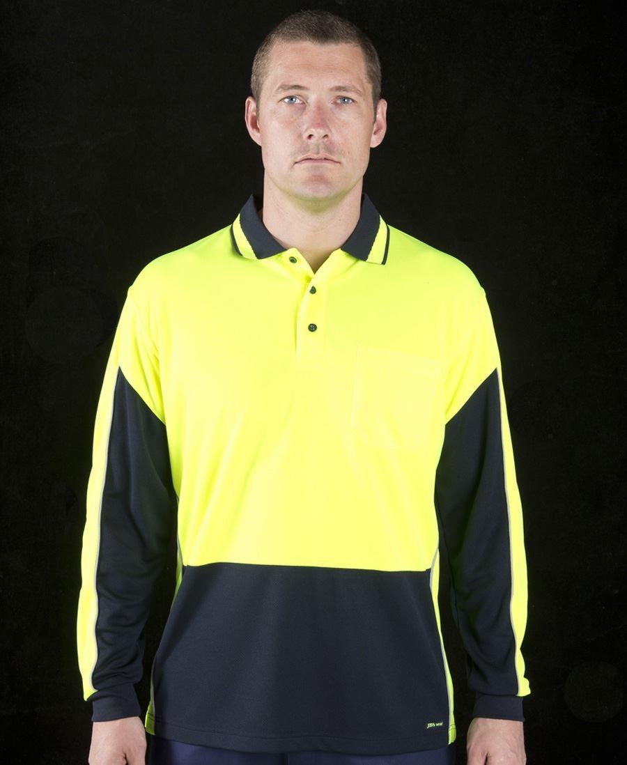 Hi Vis Long Sleeve Gap Polo
