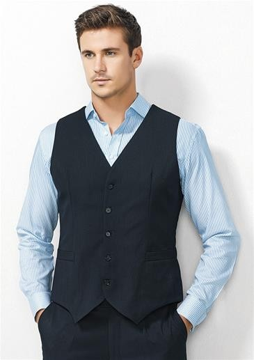 Peaked Vest with Knitted Back