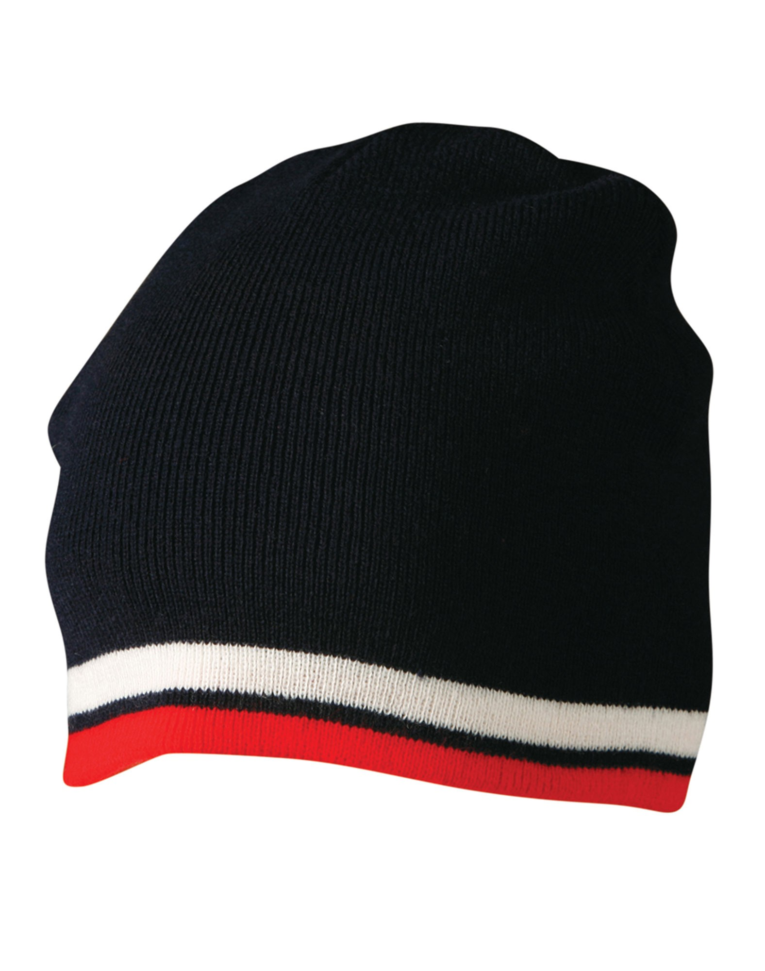 Knitted Acrylic With contrast Stripe Beanie