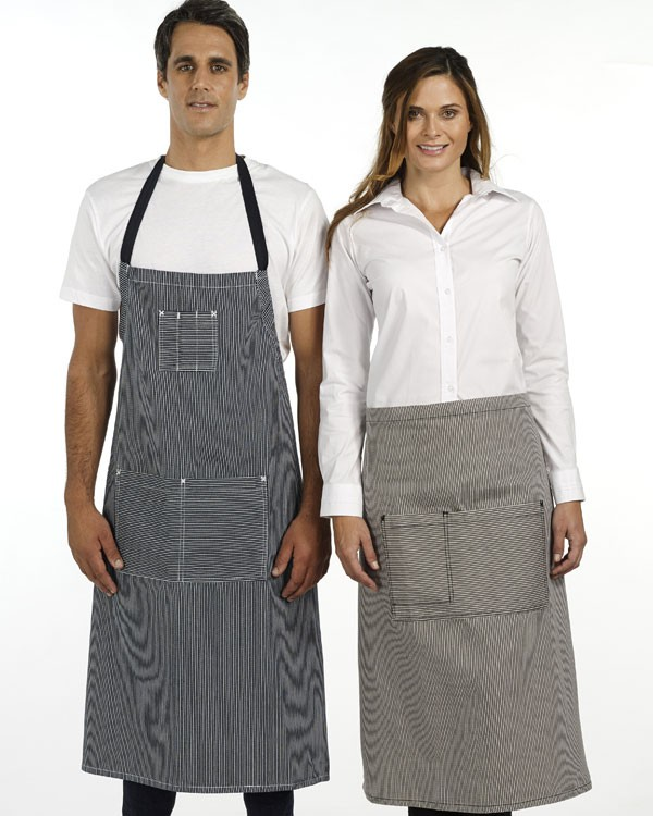 Denim Stripe Bib Apron - 2 Colours