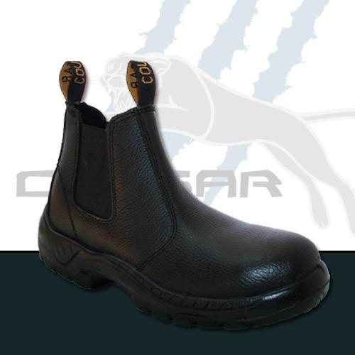 Black Leather Rambler Print - Chelsea Elastic Side Boots