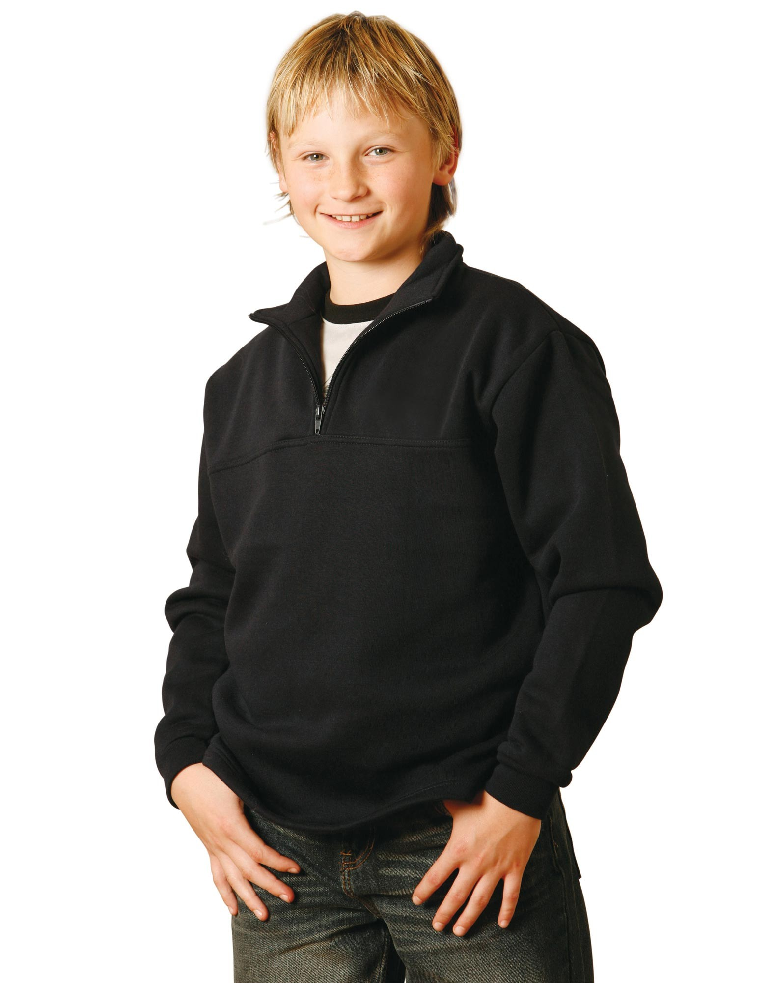 Falcon Kids 1/2 Zip Fleecy Sweat Top