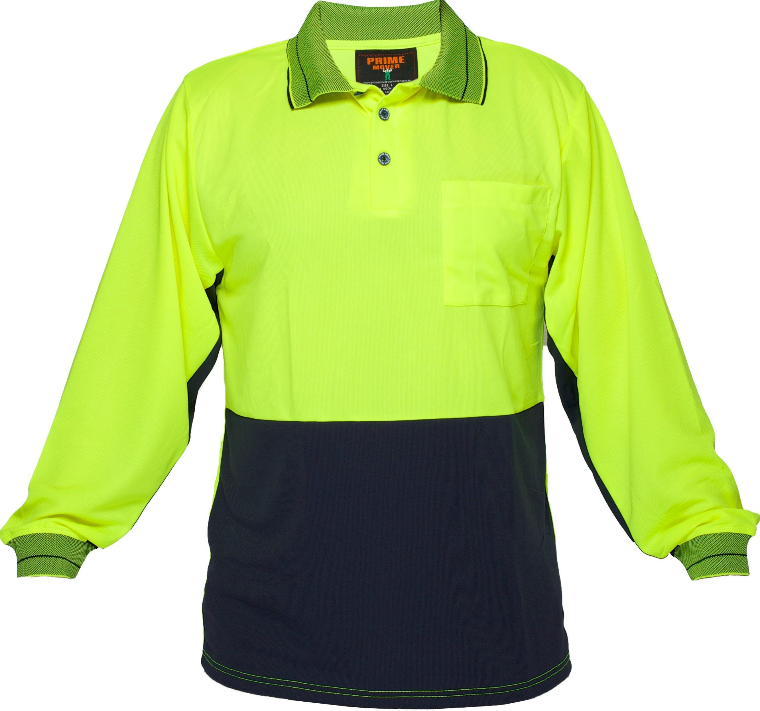 Long Sleeve Cotton Backed Polo