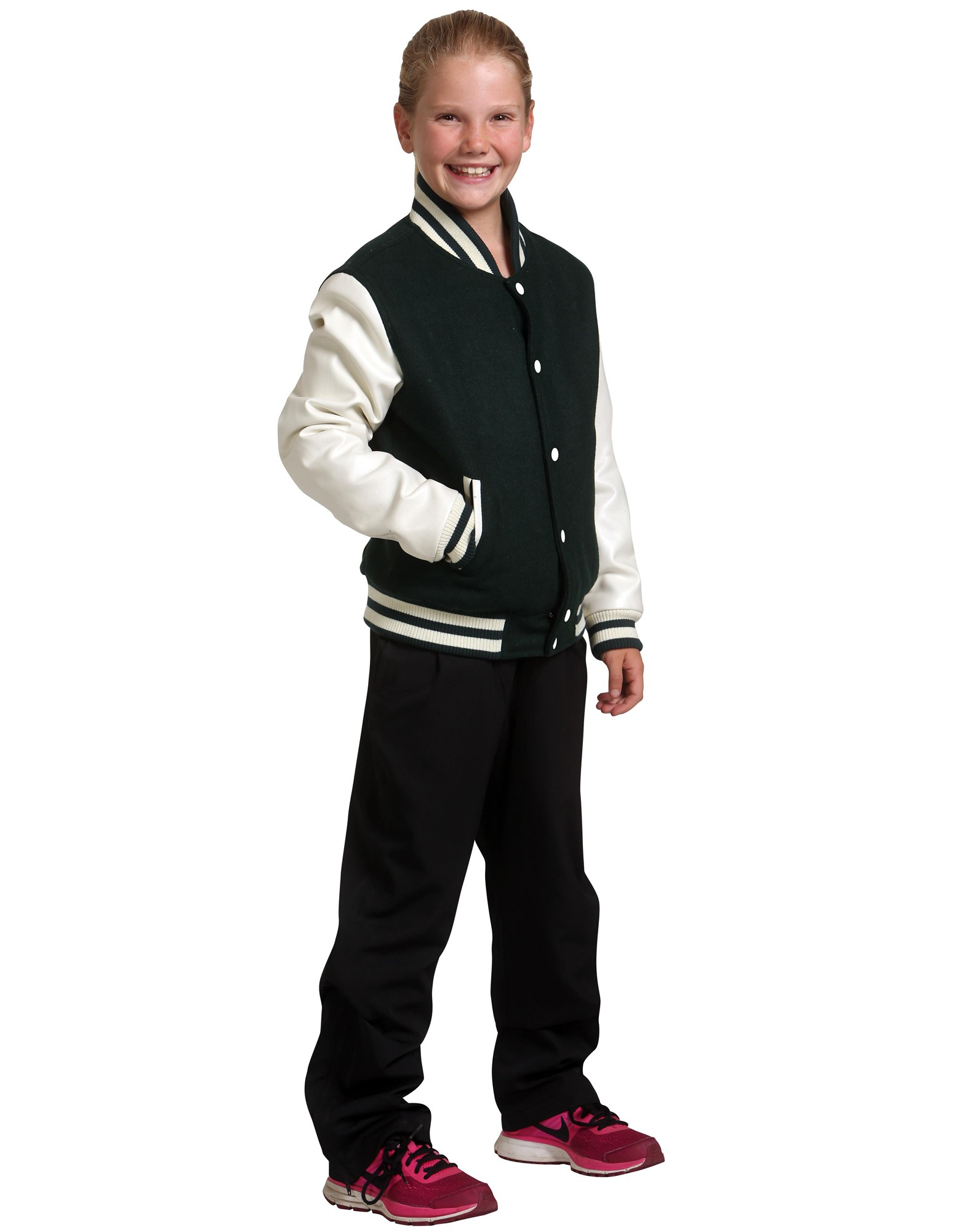 Kids Wool Blend Varsity Jacket