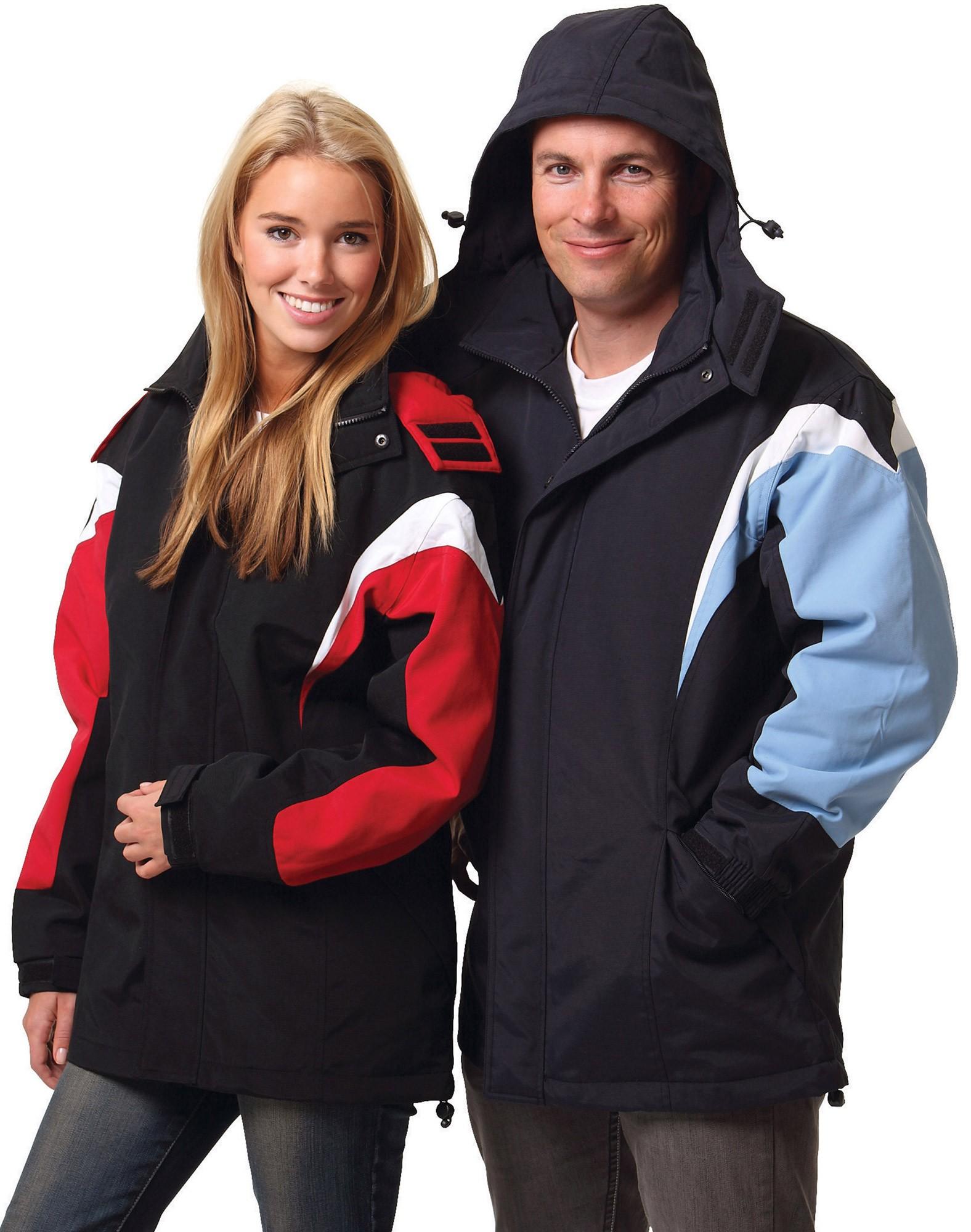 Unisex Bathurst Tri-colour Jacket With Hood