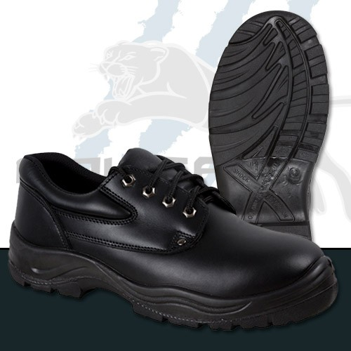 Black Full Grain Leather - Derby Lace Up Shoe