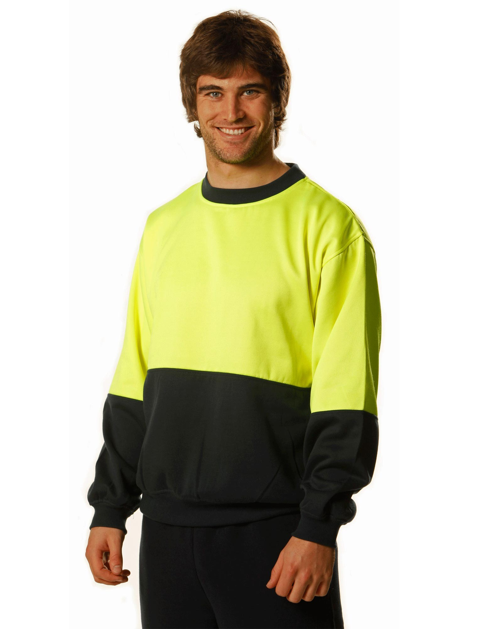 High Visibility 2 Tone Crew Neck Windcheater