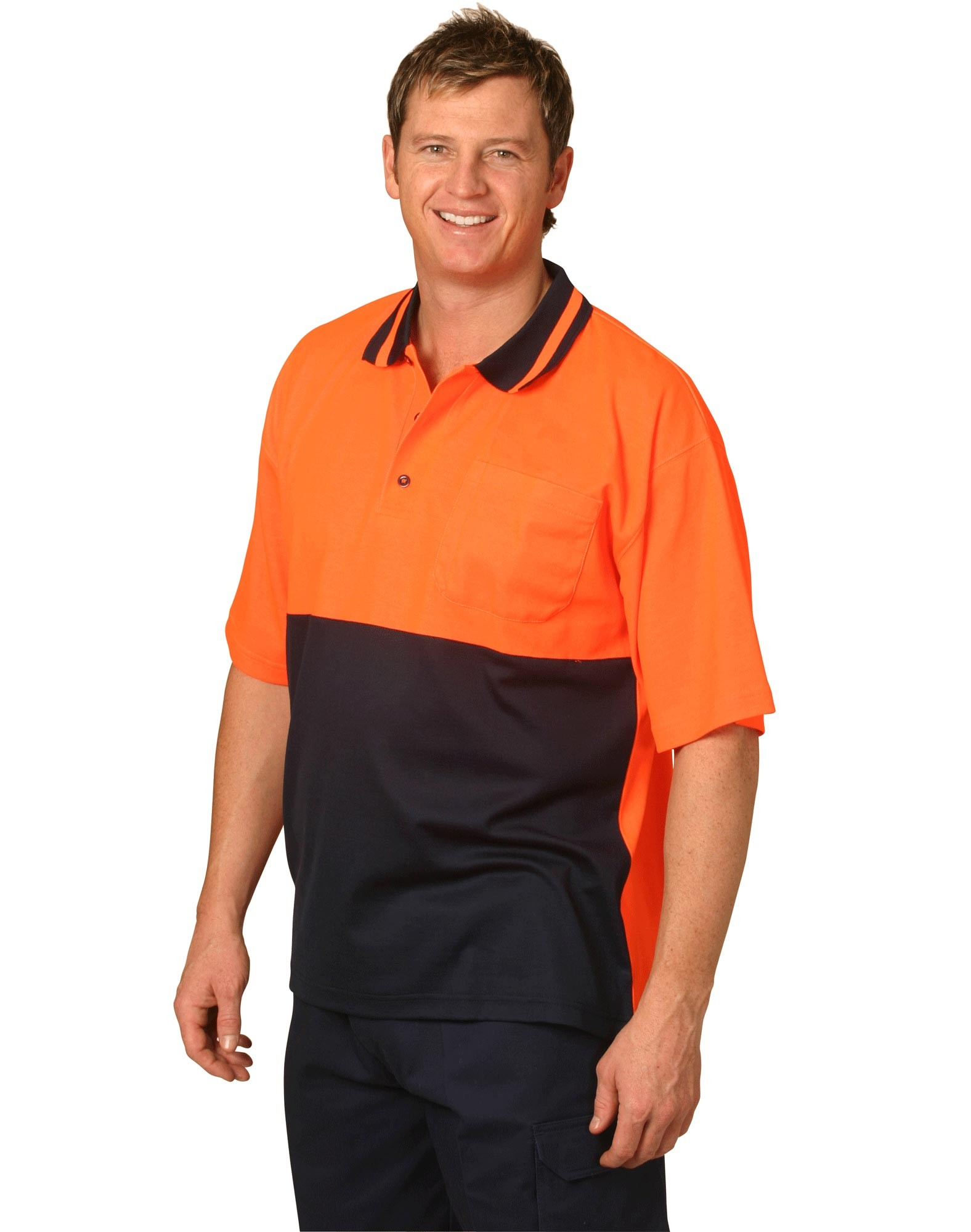 High Visibility Short Sleeve TrueDry Polo