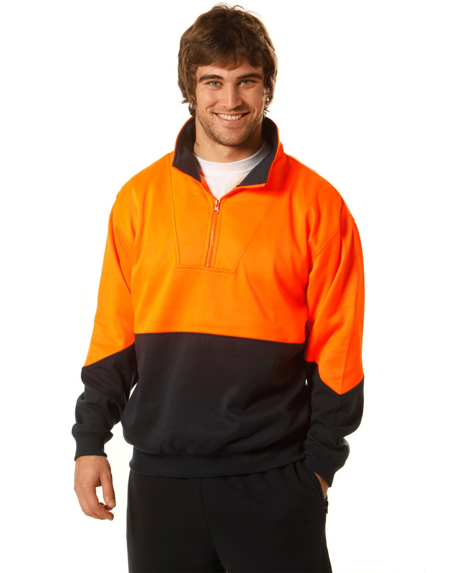 High Visibility Long Sleeve Fleecy Sweat