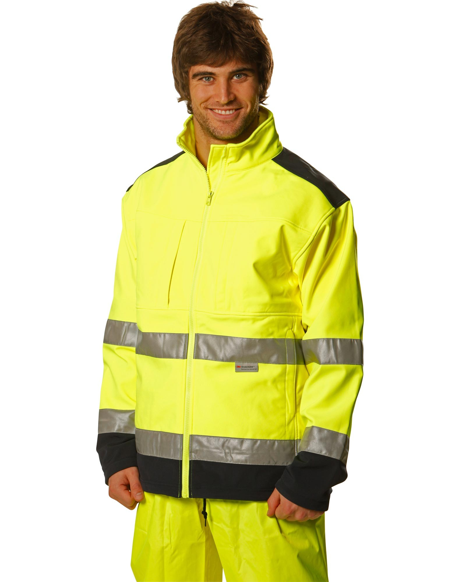 Hi-Vis Two Tone Softshell Jacket With 3M Tape