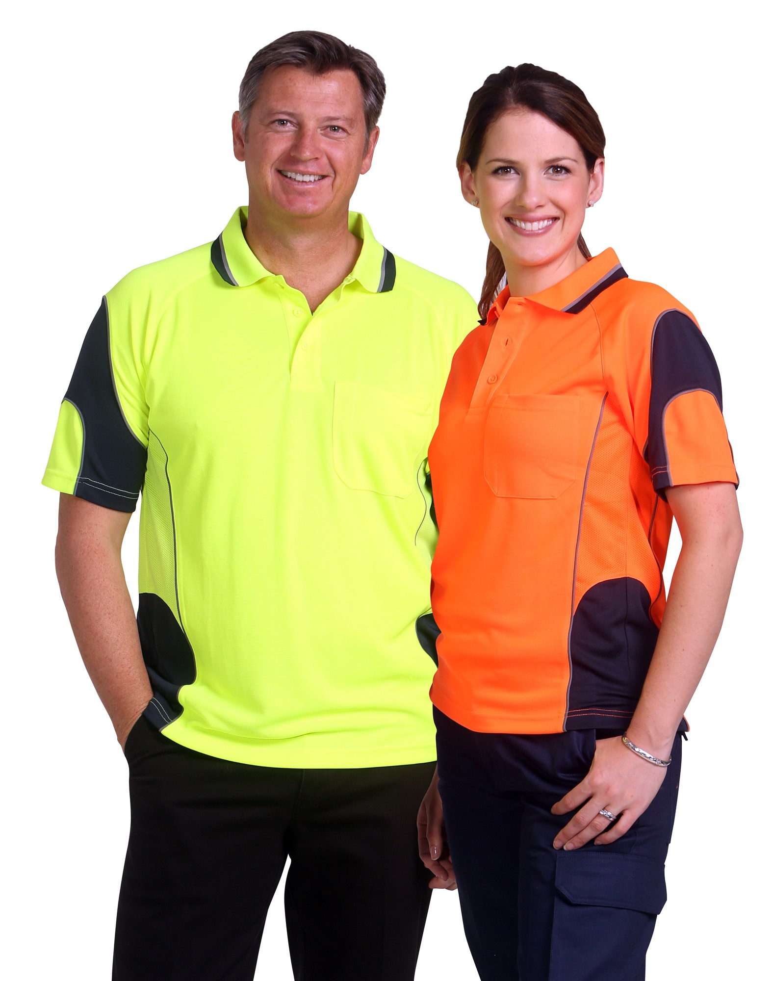 CoolDry Hi-Vis Mini Waffle Safety Polo