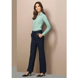 Mid Rise Comfort Wool Adjustable Waist Pant