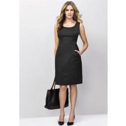 Ladies Sleeveless Side Zip Dress