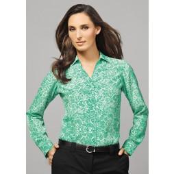 Solanda Ladies Print Long Sleeve Shirt