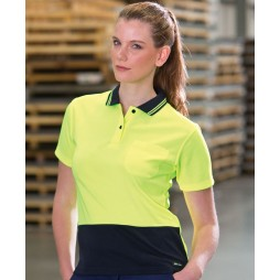 Ladies Hi Vis Short Sleeve Comfort Polo