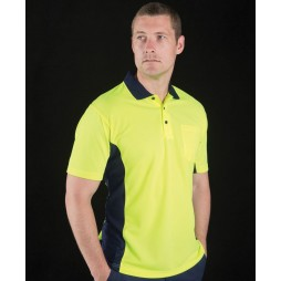 Hi Vis Short Sleeve Sport Polo