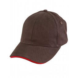 Heavy Brushed Cotton With Sandwich Peak Cap