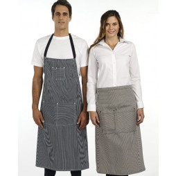 Denim Stripe Bistro Apron - 2