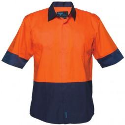 Short Sleeve Food Industry Lightweight Cotton Backed Shirt
