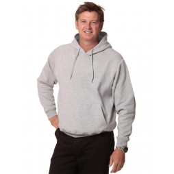 Contrast Closed Front Fleecy Hoodie