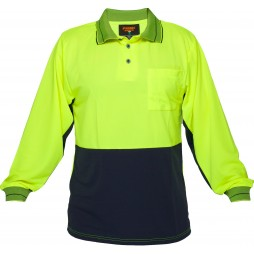 Long Sleeve Cotton Backed Polo