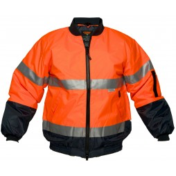 Hi Vis Bomber Jacket With Tape