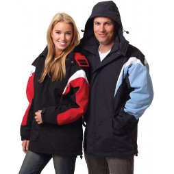 Unisex Bathurst Tri-colour Jacket With Hood