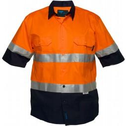 Hi Vis Cotton Drill Shirt 155gsm