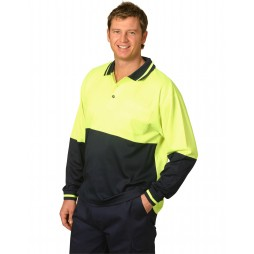 High Visibility Long Sleeve Truedry Polo