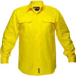 Hi Vis Cotton Drill Shirt 185gsm