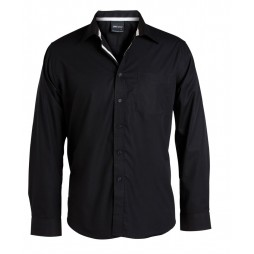 Long Sleeve Contrast Placket Shirt