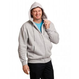 Double Bay Mens Full Zip Fleecy Hoodie