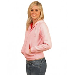 Ladies Double Bay Full Zip Fleecy Hoodie