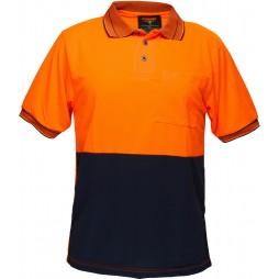 Short Sleeve Cotton Backed Polo