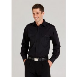Mens Epaulette Long Sleeve Shirt