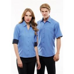 Ladies Contrast Oasis 3/4 Sleeve Shirt