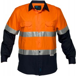 Hi Vis Cotton Drill Shirt 155gsm