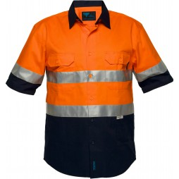 Hi Vis Cotton Drill Shirt 185gsm